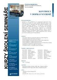 Podrobný leták + přihláška na seminář - Cesmad.com