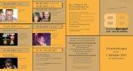 Veranstaltungen 1. Halbjahr 2011 - Berndorf