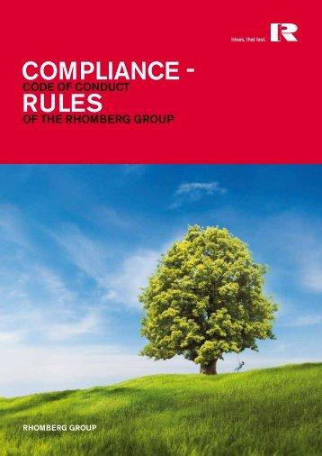 Download Compliance Rules (E) - Rhomberg Bau