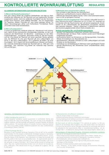 kontrollierte wohnraumlüftung regulated - Red-Ring Ges.mbH