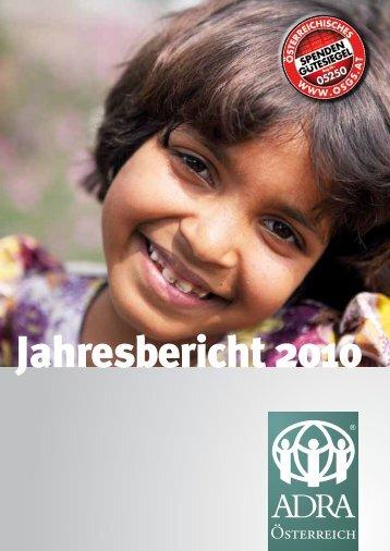 Jahresbericht 2010 - ADRA Österreich
