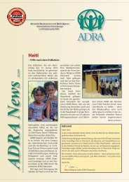 s 02/2010 – Hilfe nach dem Erdbeben Editorial - ADRA Österreich