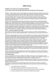 2009 Converj Press Release english - Cadillac Club of Switzerland