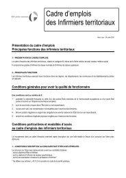 Cadre d'emplois des Infirmiers territoriaux - Centre ...