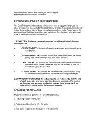 Student Equipment Policy - Minnesota State University Moorhead