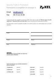 Security Trade-in Promotion Formulaire à compléter et renvoyer à ...