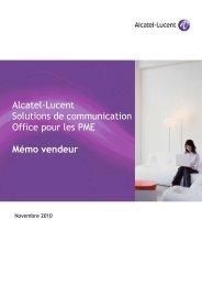 Alcatel-Lucent Solutions de communication Office pour PME Alcatel ...