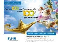 Coupon de participation à l'OPERATION 100 ans Eaton