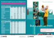 Bus in plaats van trein - Arriva