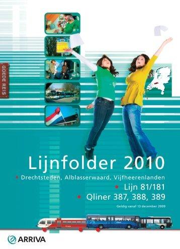 Lijnfolder 2010 - Arriva