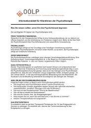 Informationsblatt für KlientInnen der Psychotherapie - Rudolf Liedl ...