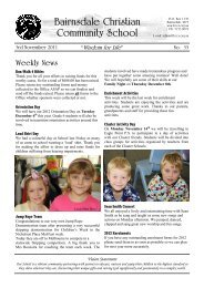 Download Newsletter - 03 November 2011 - Bairnsdale Christian ...