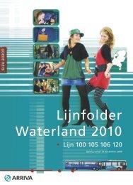 Lijnfolder Waterland 2010 - Arriva