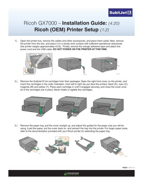 Ricoh GX7000 – Installation Guide: (4:20) Ricoh (OEM) Printer