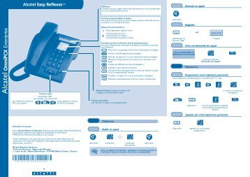 Guide rapide poste Easy - TL systèmes