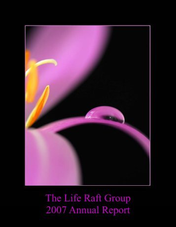 ANNUAL REPORT 2007.pub - The Life Raft Group