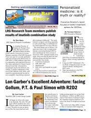 February Newsletter - The Life Raft Group