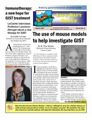 The use of mouse models to help investigate GIST - The Life Raft ...