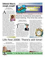 September 2008 newsletter - The Life Raft Group