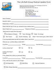 you can fill out a medical update form here - The Life Raft Group