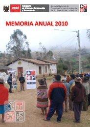 memoria anual 2010 - Sencico