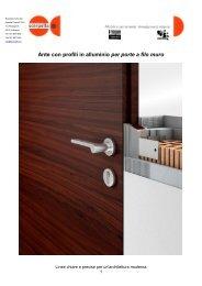 Ante con profili in alluminio per porte a filo muro