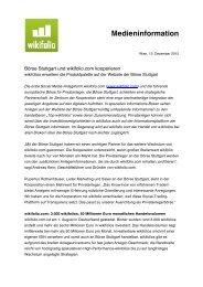 Börse Stuttgart und wikifolio.com kooperieren