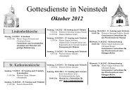 Gottesdienste in Neinstedt - Terminplaner für den Pfarrbereich ...
