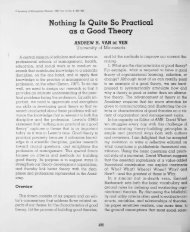 Nothing Is Quite So Practical as a Good Theory - Academy of ...