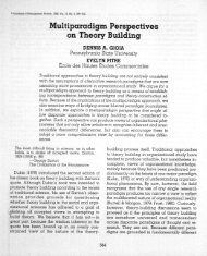 Multiparadigm Perspectives on Theory Building - Academy of ...