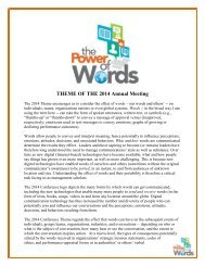 The Power of Words - Academy of Management