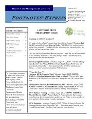 Summer 2012 - (Express Issue - pre-conference) - Divisions ...