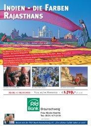 p.p. im dz indien - die farben rajasthans - PSD Bank Braunschweig eG