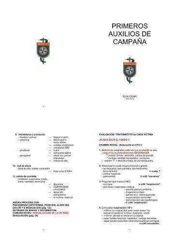 PRIMEROS AUXILIOS DE CAMPAÑA - ciomr