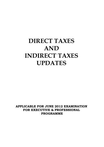 Modelling direct and indirect taxes on firms - Institute of Statistics