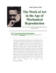 The Work of Art in the Age of Mechanical ... - Richard Curtis