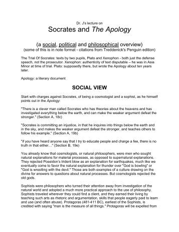 platos apology of socrates Plato's apology of socrates how you, men of athens, have been affected by my  accusers, i do 17a not know 1  for my part, even i nearly forgot myself.