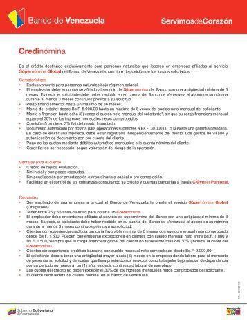 Banco venezuela credinomina planilla solicitud for Solicitud de chequera banco venezuela