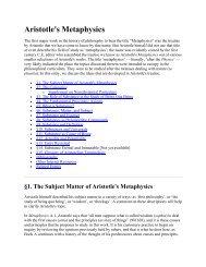 Aristotle's Metaphysics - Richard Curtis