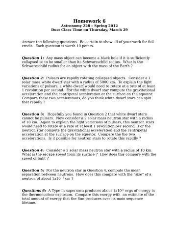 Astromony homework help