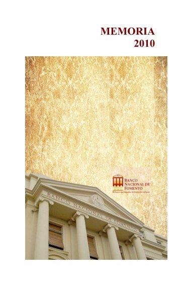 Memoria y Balance 20101.pdf - Banco Nacional de Fomento