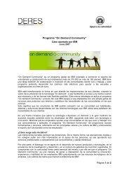 On Demand Community (2007) Caso aportado por IBM DEL ... - Deres