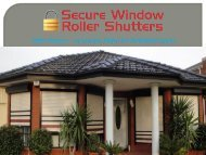 Roller Shutters: - An Excellent Option For Residential Security