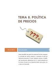 tema 8. política de precios