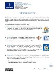 POLÍTICA DE PRODUCTO - PROYECTO EMPRESARIAL 2.0 - IES ...