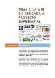 tema 2. la web 2.0 aplicada a proyecto empresarial