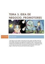 tema 3. idea de negocio. promotores