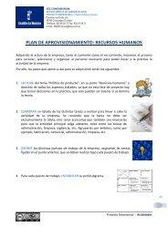 plan de aprovisionamiento: recursos humanos - PROYECTO ...