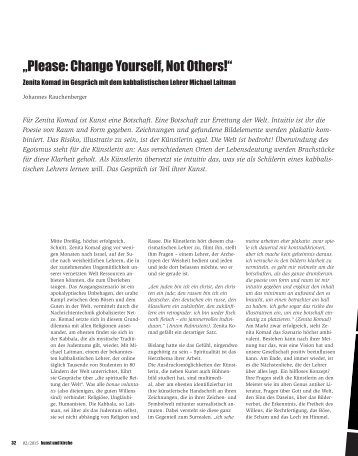 """""""Please: Change Yourself, Not Others!"""""""