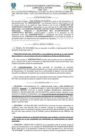 Contrato de renting conste por el presente documento el for Contrato documento